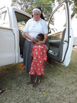 Sister Philomena with One of the Special Needs Kids